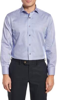 Lorenzo Uomo Trim Fit Textured Stripe Dress Shirt