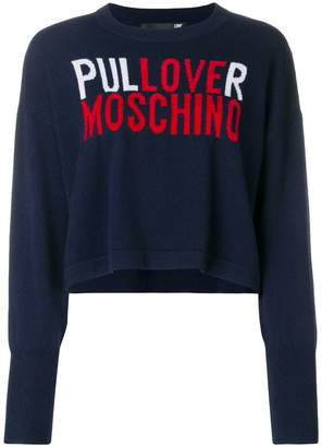 Love Moschino logo cropped sweater