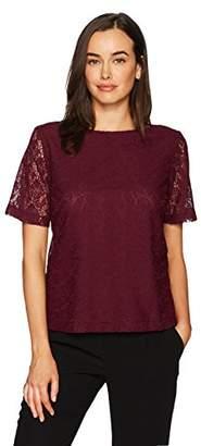 Kasper Women's Short Sleeve Lace Top