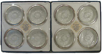 One Kings Lane Vintage Italian Silver & Glass Coasters - Set of 8 - Chez Vous