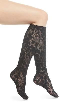 Wolford Camelia Lace Knee High Socks