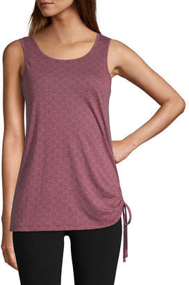 ST. JOHN'S BAY SJB ACTIVE Active Womens Round Neck Sleeveless Tank Top
