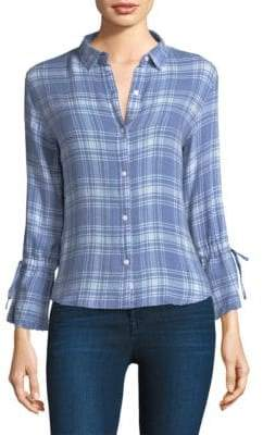 Rails Astrid Tie Sleeve Plaid Shirt