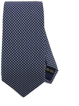 Salvatore Ferragamo Tie 8 Cm Tie In Pure Silk With All-over Chestnut Pattern