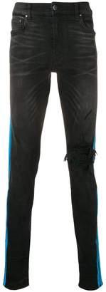 Amiri blue stripe skinny jeans