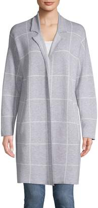 Jones New York Windowpane Open-Front Jacket