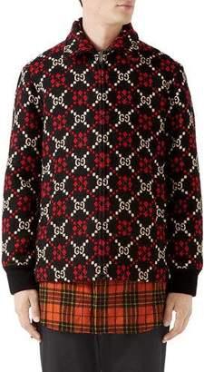 Gucci Men's Wool Logo Parka Coat