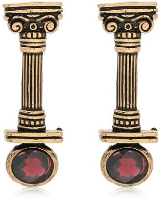 Alcozer & J Capital Column Earrings With Garnets