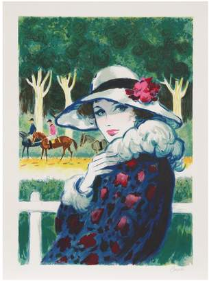 Pons Arvarcas RoGallery Lady at the Races by Amadeu Casals Lithograph)
