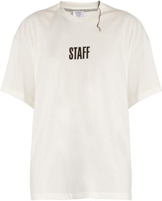 VETEMENTS X Hanes Staff cotton T-shirt $430 thestylecure.com
