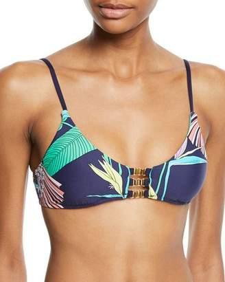 Trina Turk Electric Wave Bandeau Bikini Swim Top