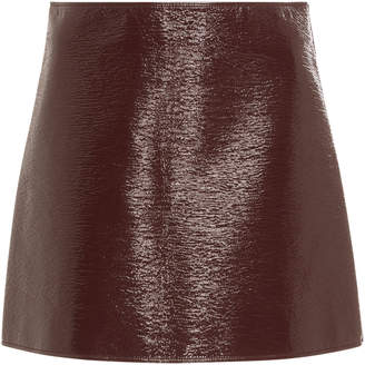 Courreges Cotton Blend-Vinyl Mini skirt