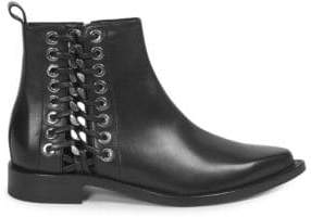 Alexander McQueen Side Detail Leather Booties