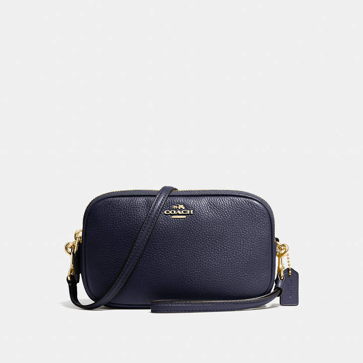 Coach   COACH Coach Crossbody Clutch In Pebble Leather
