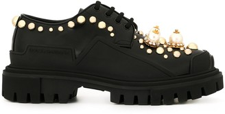 Dolce & Gabbana chunky heel embellished derbies