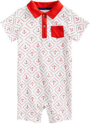 First Impressions Baby Boys Anchor-Print Cotton Romper