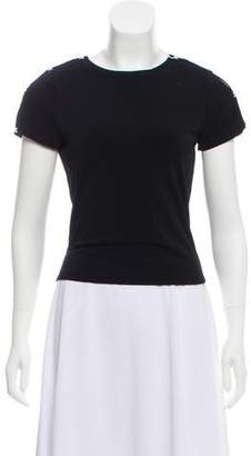 Alice + Olivia Short Sleeve Embellished Top
