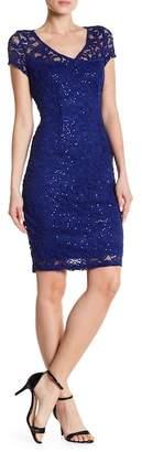 Marina Sequin Lace Dress