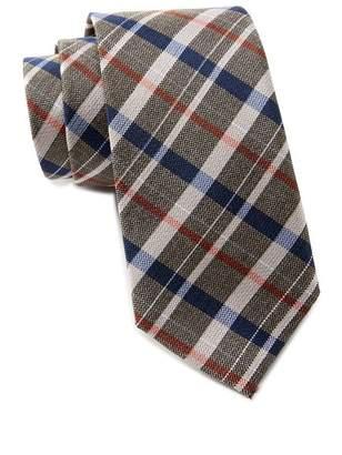 Ben Sherman Kensleigh Plaid Silk Tie