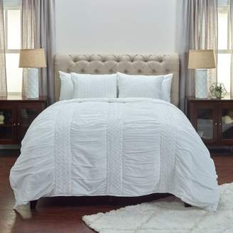 Rizzy Home Carly White Twin Size Quilt 70 Inches X 86 Inches