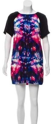 Rebecca Minkoff Short Sleeve Printed Mini Dress