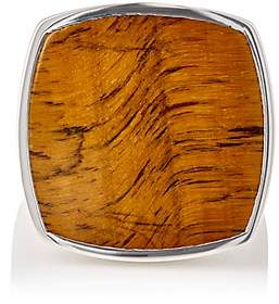Tom Wood Women's Square-Faced Signet Ring - Silver