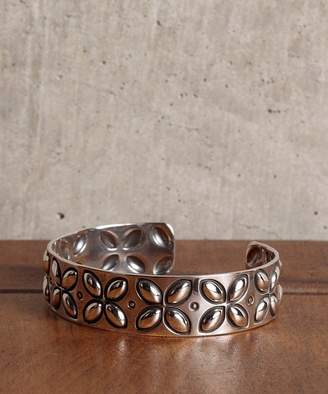 Ability NORTH WORKS 900Silver Stamp Cuff L Flower