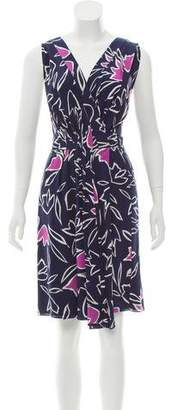 Nina Ricci Floral Print Silk Dress