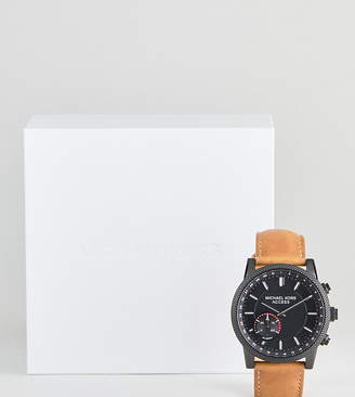 Michael Kors MKT4026 Scout Leather Hybrid Smart Watch In Tan 43mm