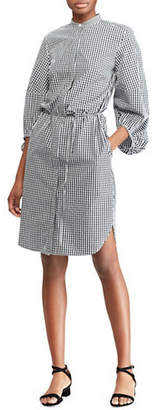 Lauren Ralph Lauren Gingham Long-Sleeve Cotton Shirtdress