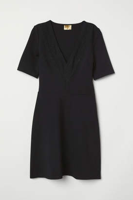 H&M Dress with Lace Details - Black