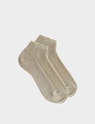 A.P.C. Jess Socks in Beige Cotton