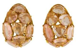 Pomellato 18K Rose Quartz Capri Earrings