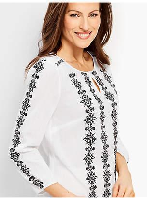 Talbots Embroidered Gauze Shirt