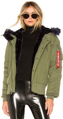 Alpha Industries N-2B Impact Parka With Faux Fur Trim