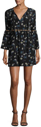Ella Moss Floral Crewneck Dress