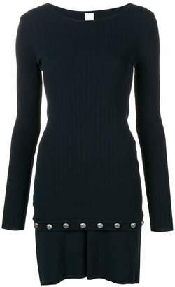 Pinko embellished stretch-knit dress