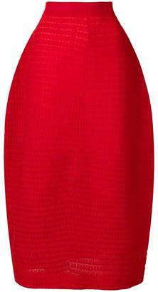 Jil Sander high rise straight skirt