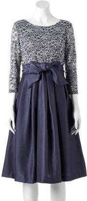 Women's Jessica Howard Lace Taffeta Fit & Flare Dress $150 thestylecure.com
