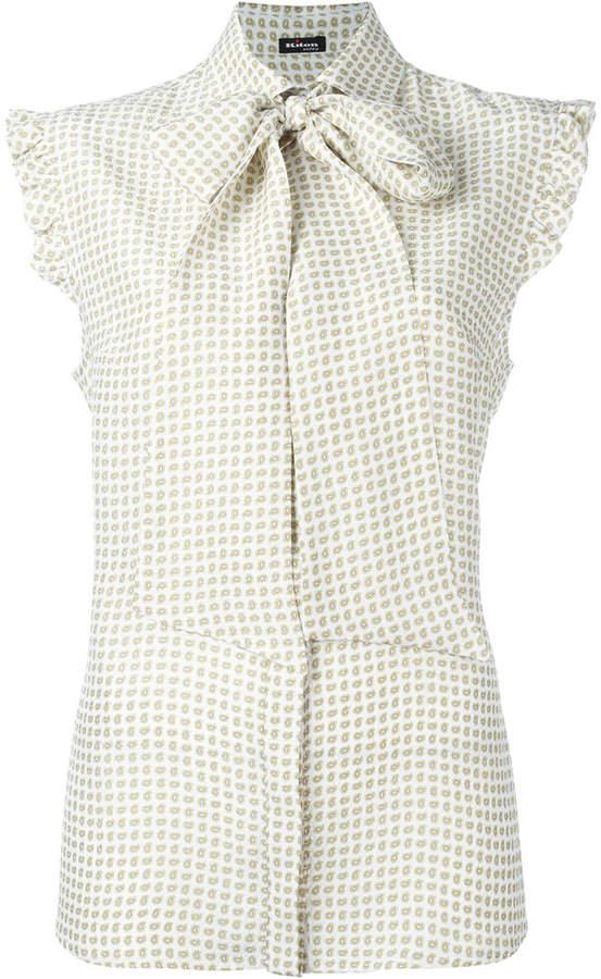 Kiton printed sleeveless shirt