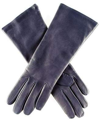 Black Midnight Navy Blue Leather Gloves with Cashmere Lining