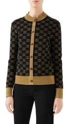 Gucci Metallic GG Cardigan