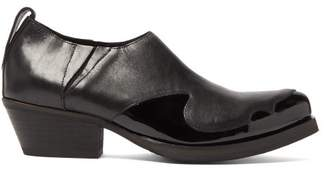 Our Legacy Low Top Cuban Heel Leather Boots - Mens - Black