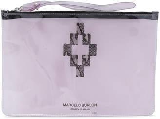 Marcelo Burlon County of Milan Cross clutch bag