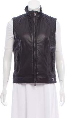 Post Card Quilted Leather Vest