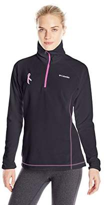 Columbia Women's Tested Tough in Pink Fleece Quarter-Zip Pullover $45 thestylecure.com