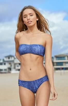 GUESS Denim Bandeau Bikini Top