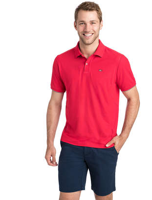 Vineyard Vines Performance USA Flag Polo