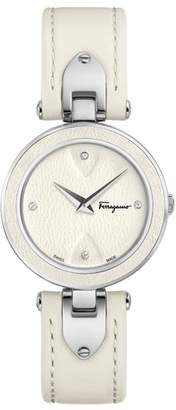 Salvatore Ferragamo Giglio Leather Strap Watch, 32mm