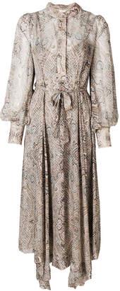 Zimmermann paisley print belted dress